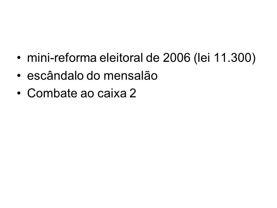 mini-reforma eleitoral de 2006 (lei 11.300)