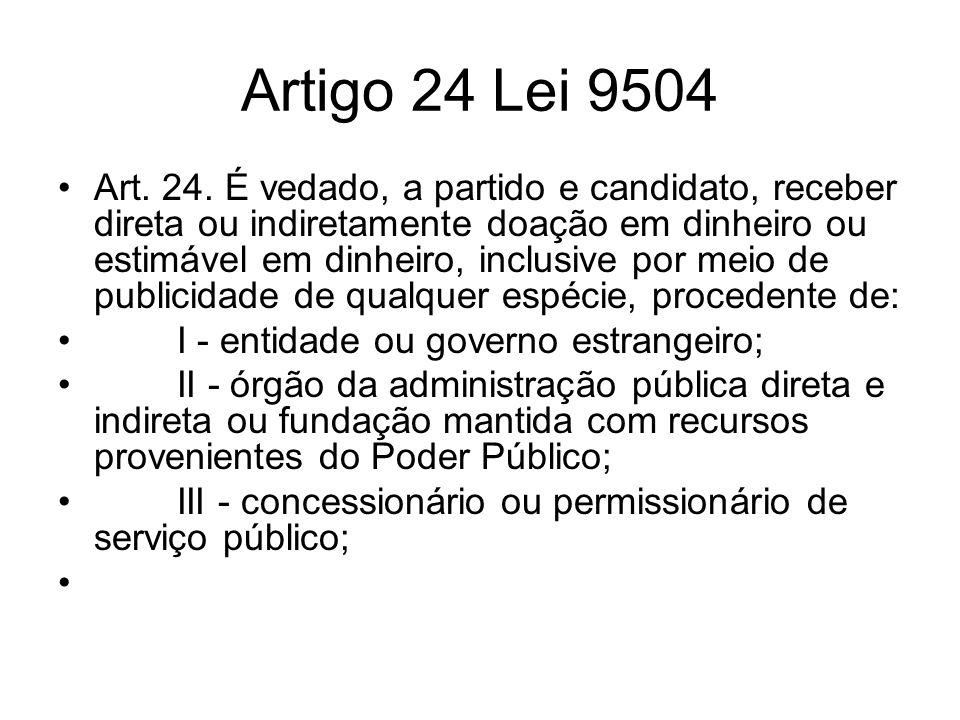 Artigo 24 Lei 9504
