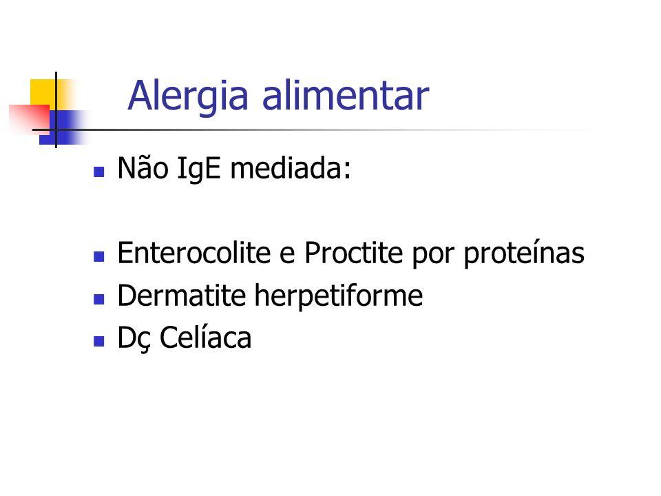 Alergia alimentar Não IgE mediada: