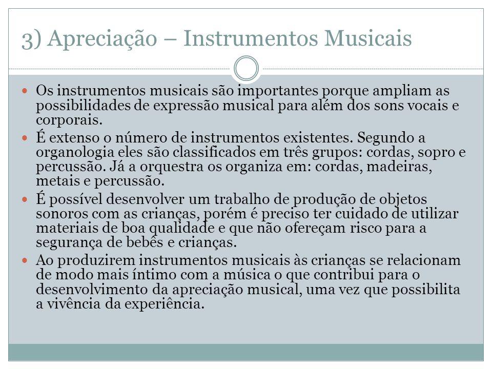 3) Apreciação – Instrumentos Musicais