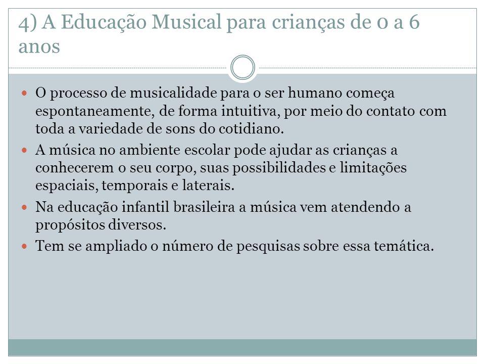4) A Educação Musical para crianças de 0 a 6 anos