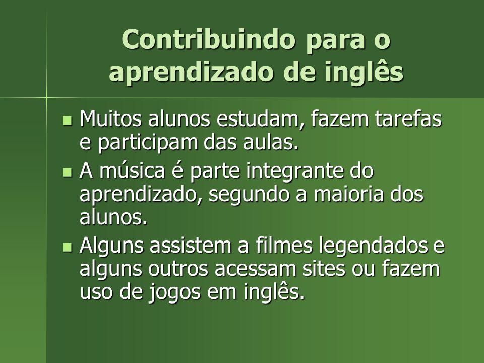 Contribuindo para o aprendizado de inglês