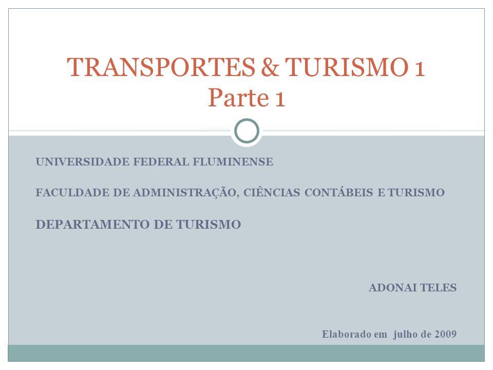 TRANSPORTES & TURISMO 1 Parte 1 DEPARTAMENTO DE TURISMO