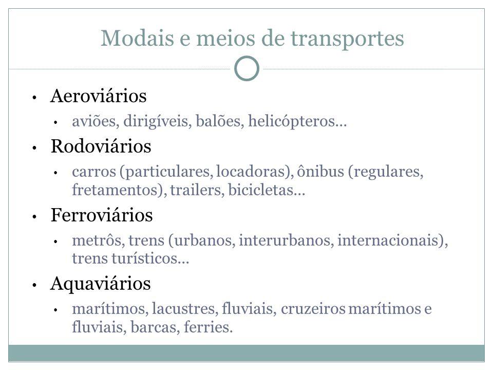 Modais e meios de transportes