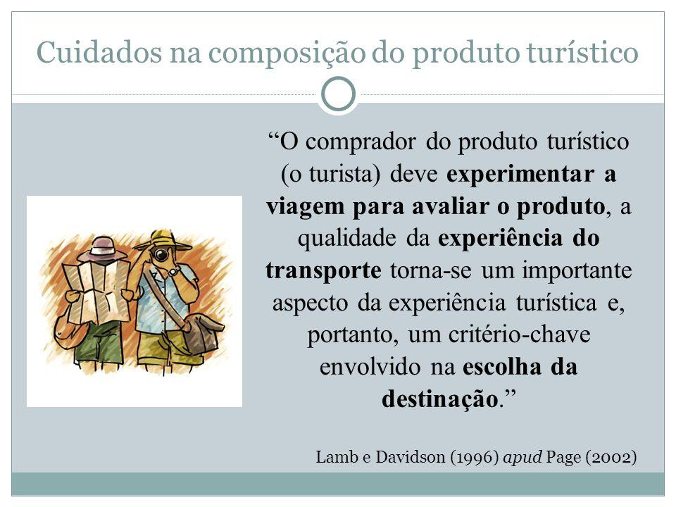 Cuidados na composição do produto turístico