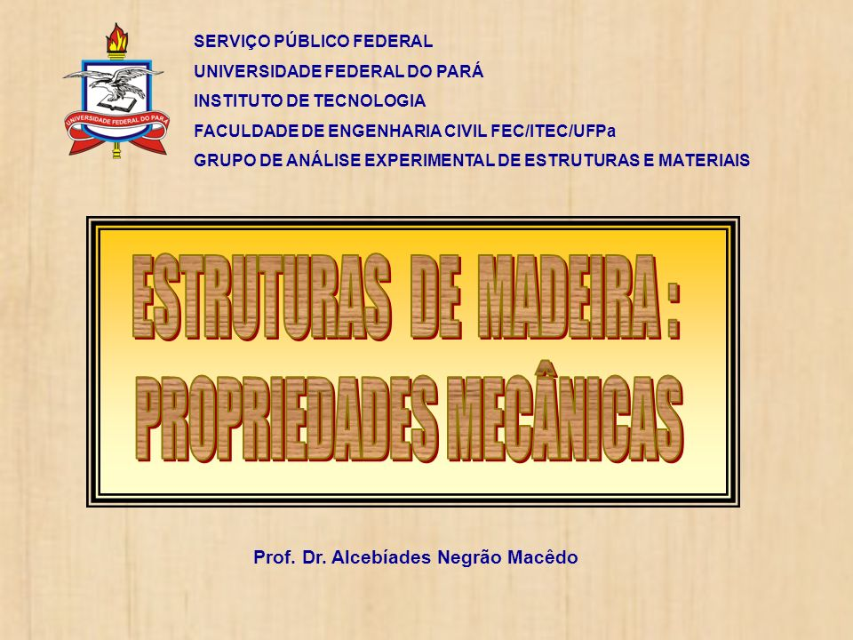 Prof. Dr. Alcebíades Negrão Macêdo