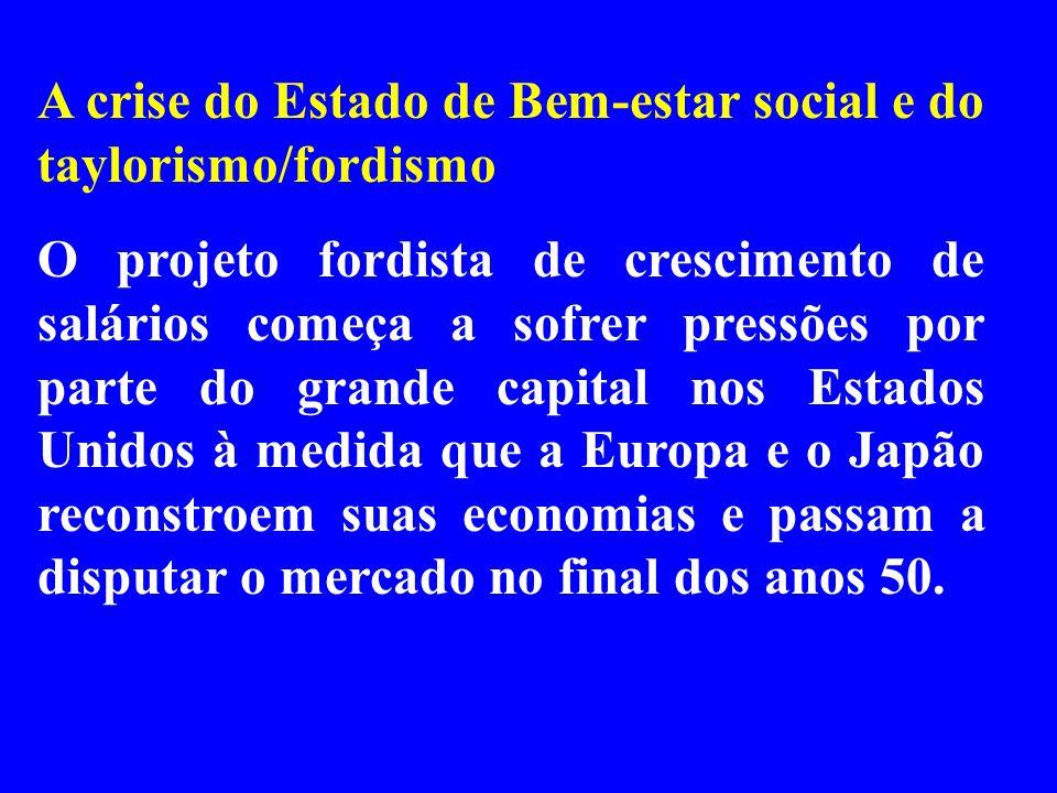 A crise do Estado de Bem-estar social e do taylorismo/fordismo
