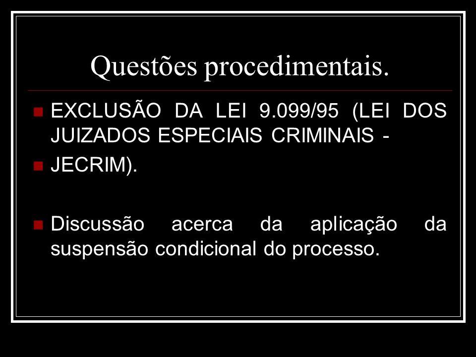 Questões procedimentais.