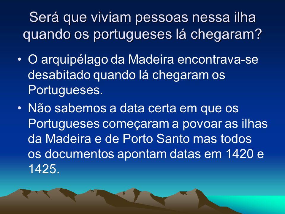 Será que viviam pessoas nessa ilha quando os portugueses lá chegaram