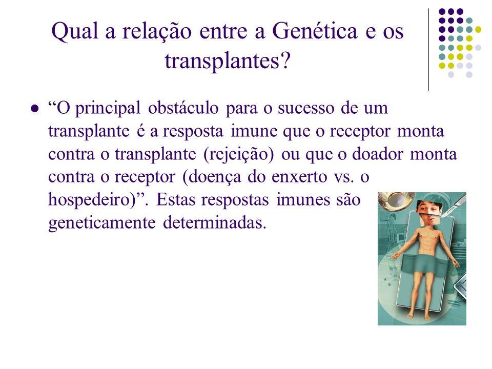 Qual a relação entre a Genética e os transplantes