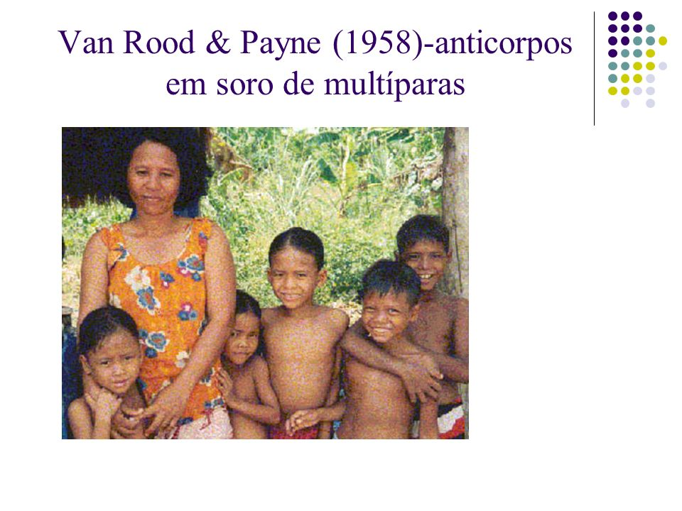 Van Rood & Payne (1958)-anticorpos em soro de multíparas