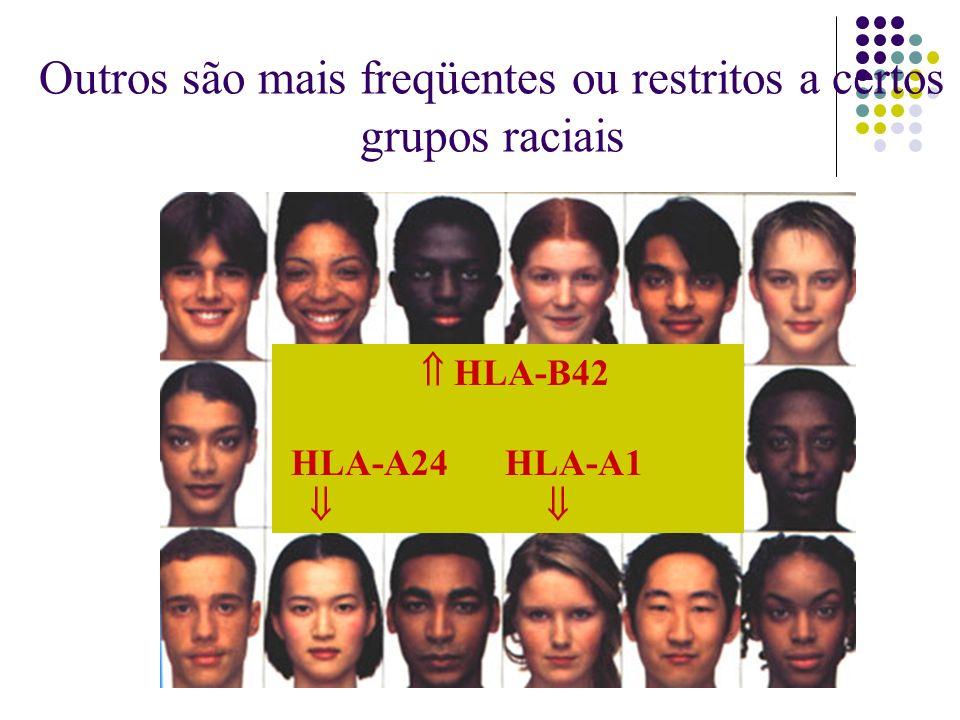 Outros são mais freqüentes ou restritos a certos grupos raciais