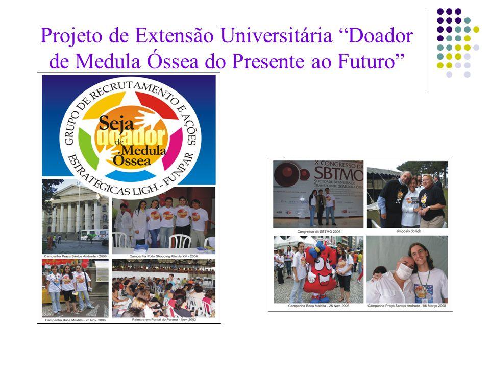Projeto de Extensão Universitária Doador de Medula Óssea do Presente ao Futuro