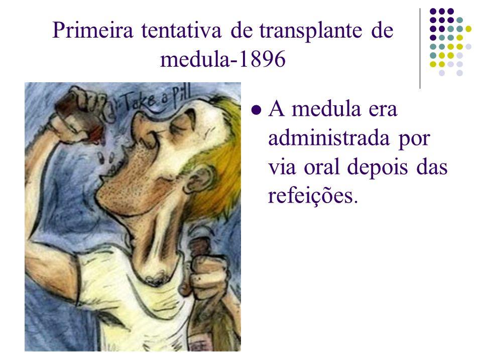 Primeira tentativa de transplante de medula-1896