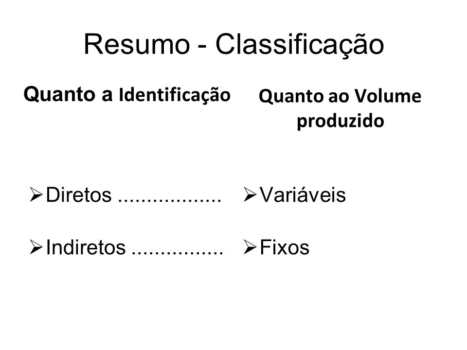 Resumo - Classificação