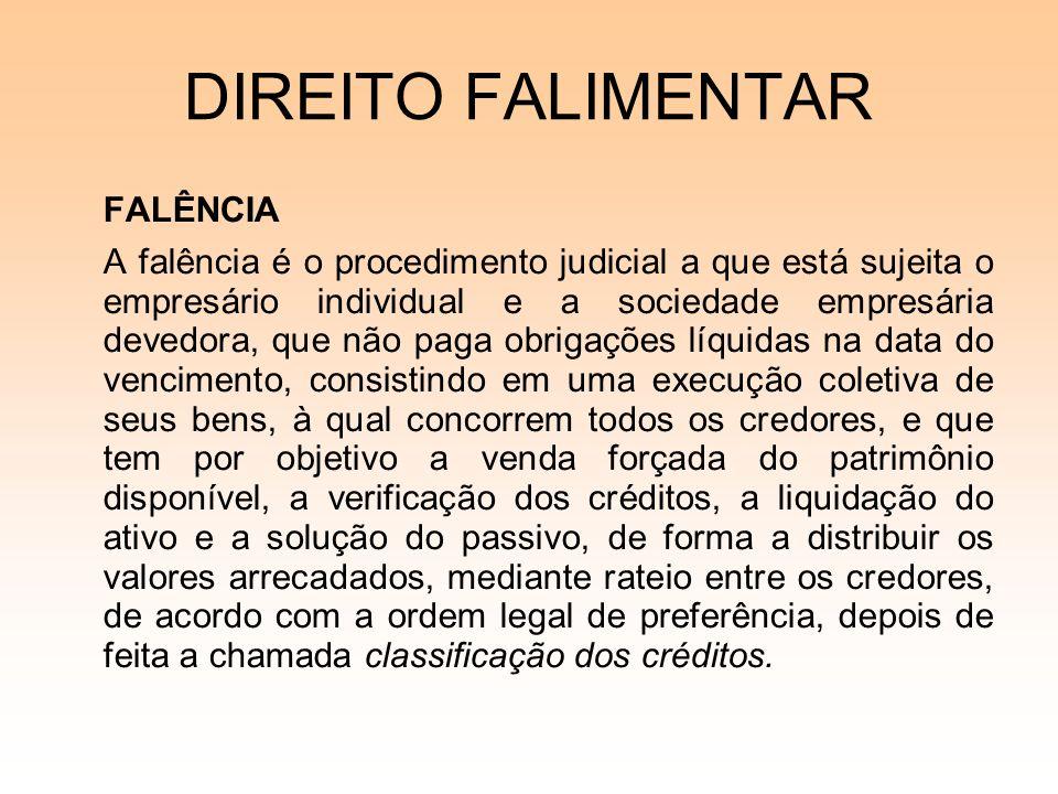 DIREITO FALIMENTAR FALÊNCIA