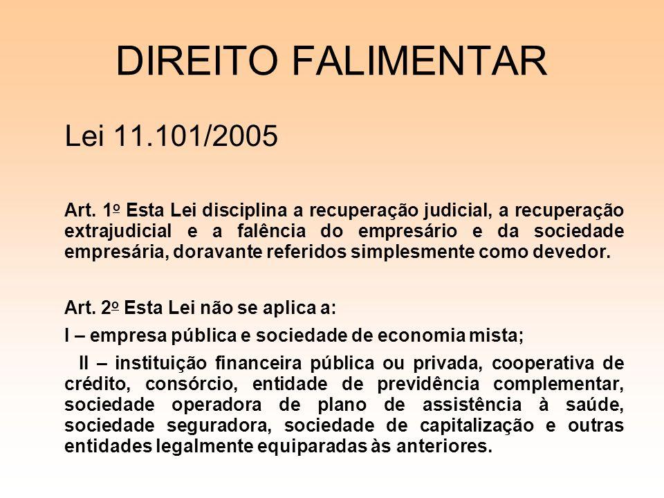 DIREITO FALIMENTAR Lei 11.101/2005
