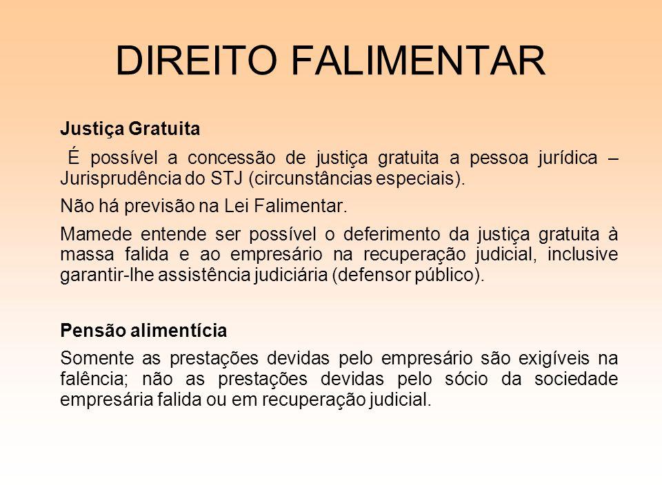 DIREITO FALIMENTAR Justiça Gratuita