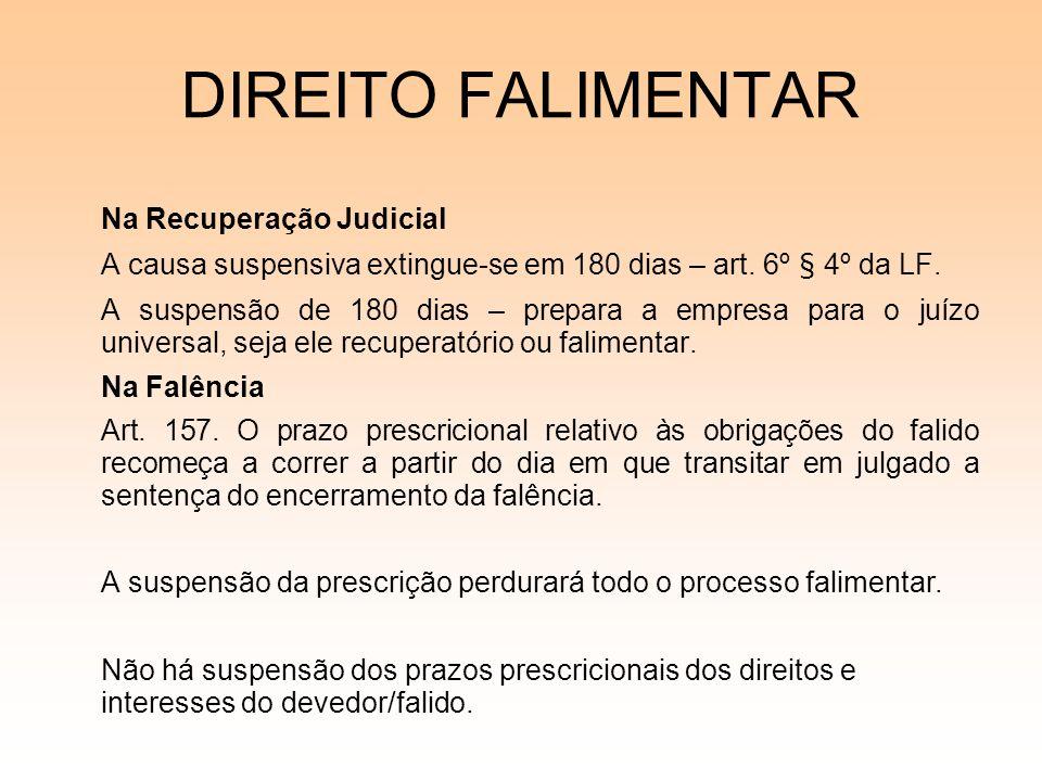 DIREITO FALIMENTAR Na Recuperação Judicial