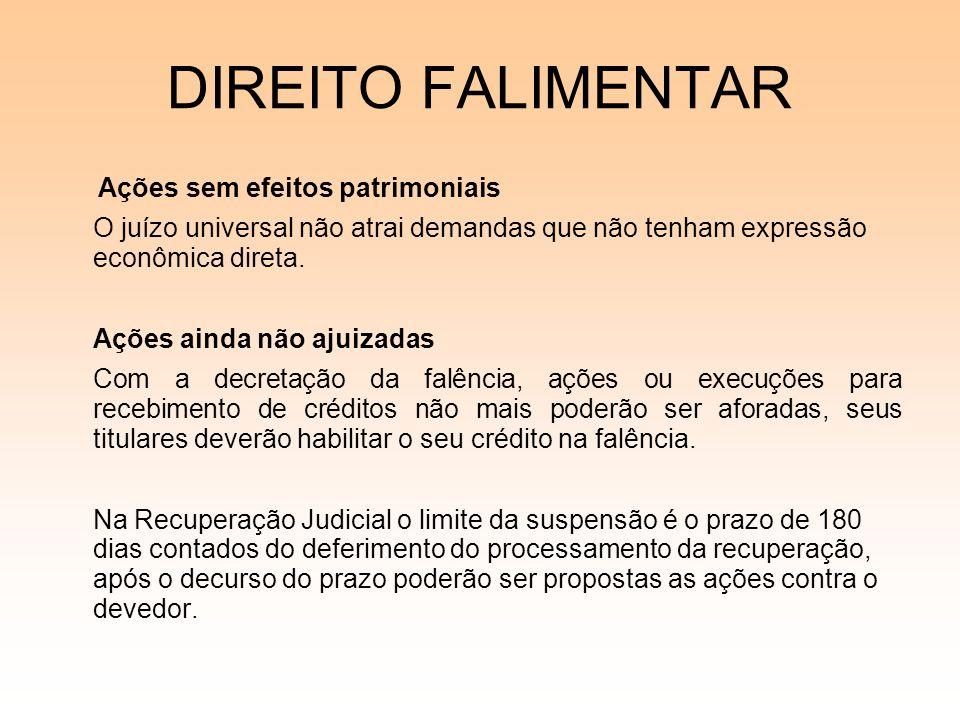08/12/06DIREITO FALIMENTAR. Ações sem efeitos patrimoniais. O juízo universal não atrai demandas que não tenham expressão econômica direta.