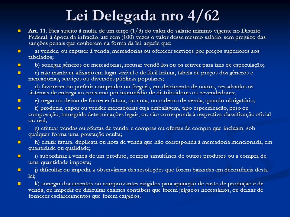 Lei Delegada nro 4/62