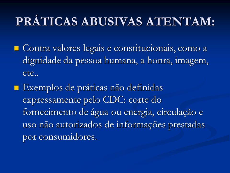 PRÁTICAS ABUSIVAS ATENTAM: