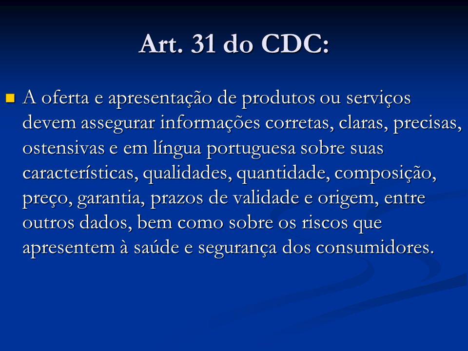 Art. 31 do CDC: