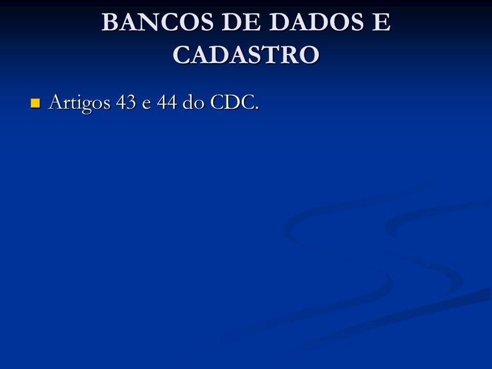 BANCOS DE DADOS E CADASTRO