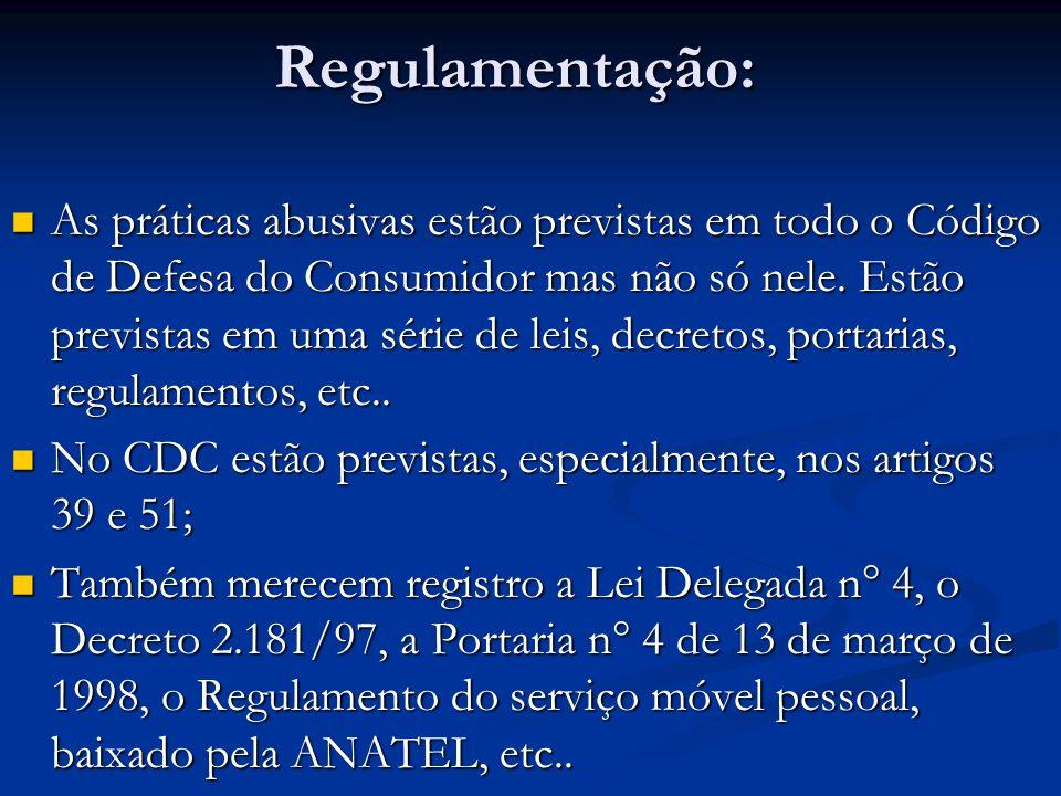 Regulamentação: