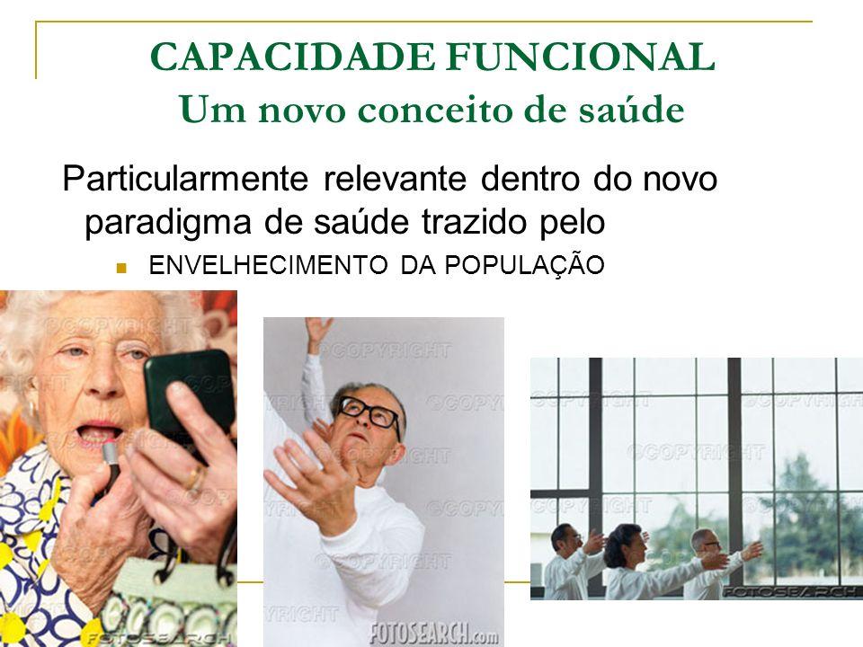 CAPACIDADE FUNCIONAL Um novo conceito de saúde
