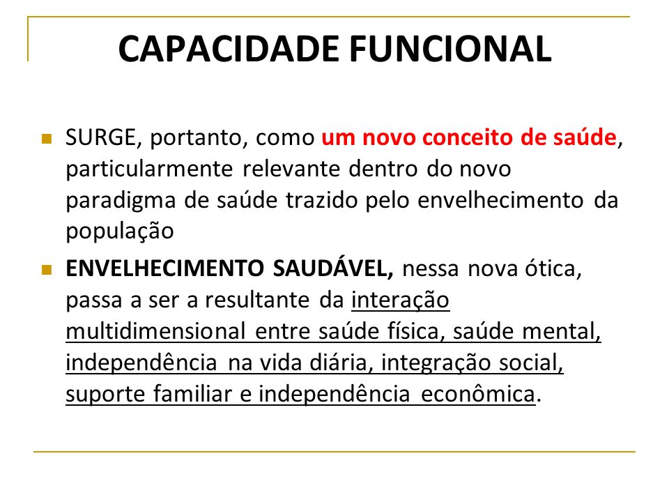 CAPACIDADE FUNCIONAL