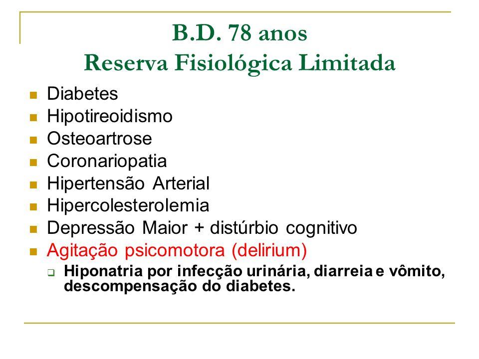 B.D. 78 anos Reserva Fisiológica Limitada