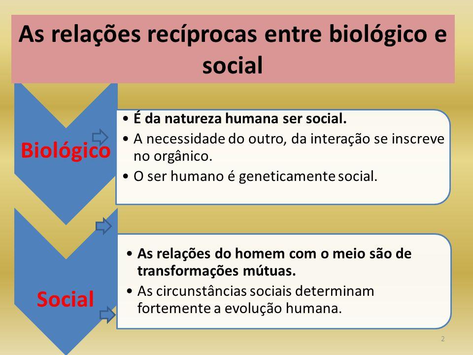 As relações recíprocas entre biológico e social