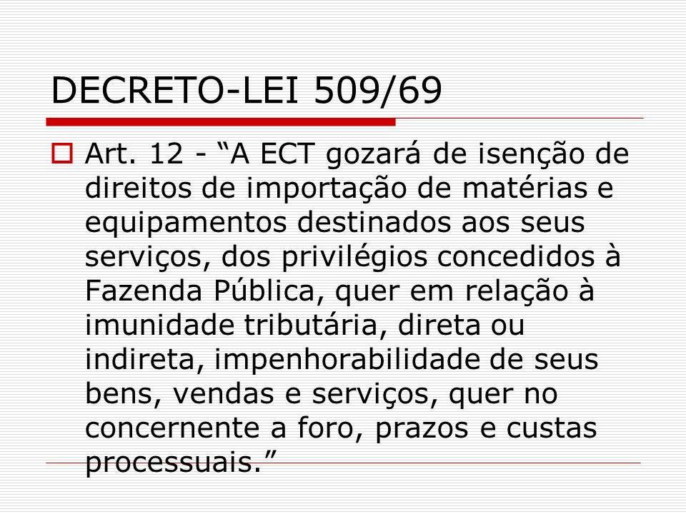 DECRETO-LEI 509/69