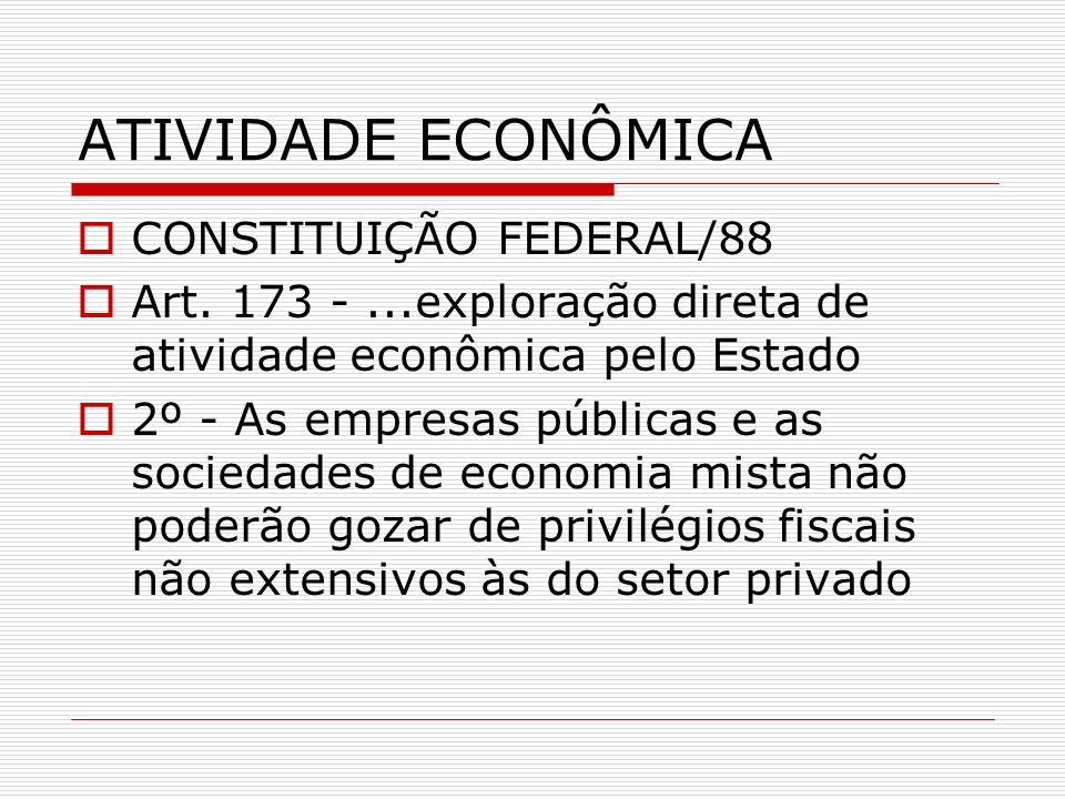 ATIVIDADE ECONÔMICA CONSTITUIÇÃO FEDERAL/88