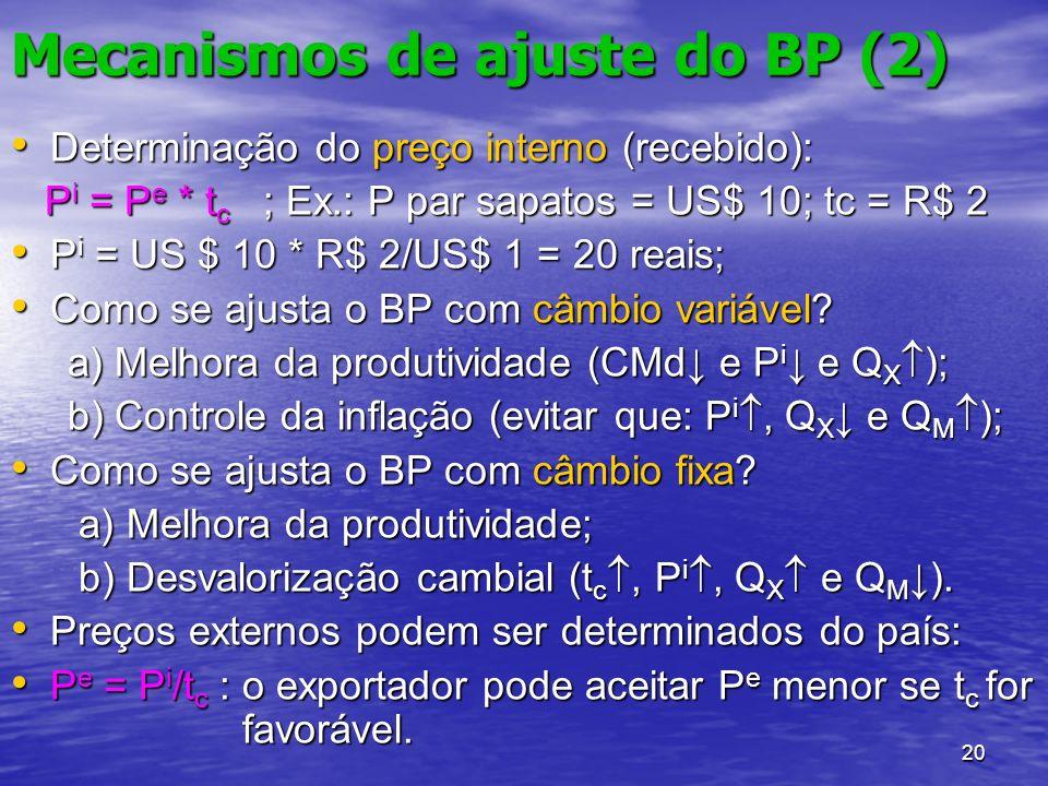 Mecanismos de ajuste do BP (2)