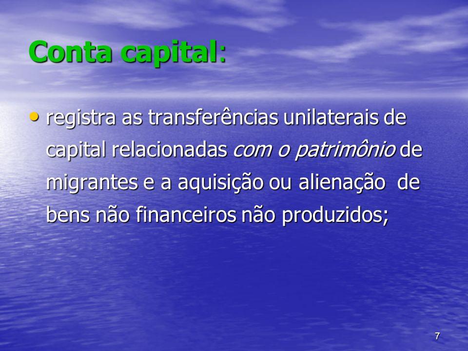Conta capital: