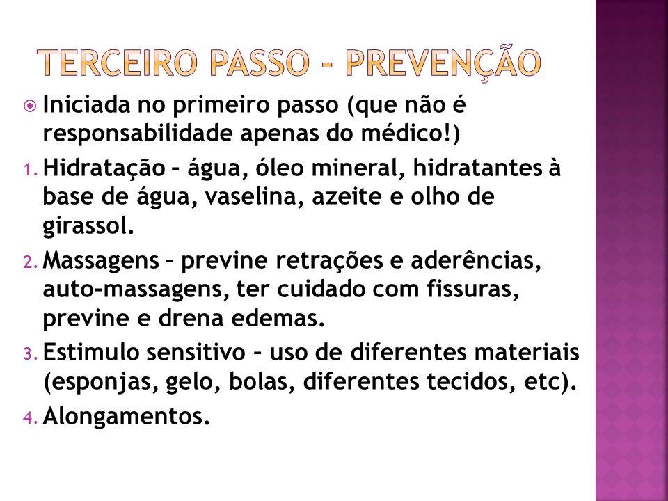 Terceiro passo - prevenção