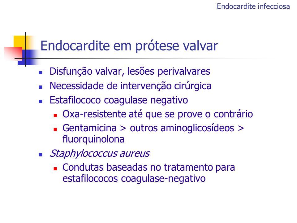 Endocardite em prótese valvar