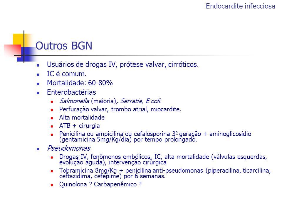 Outros BGN Endocardite infecciosa