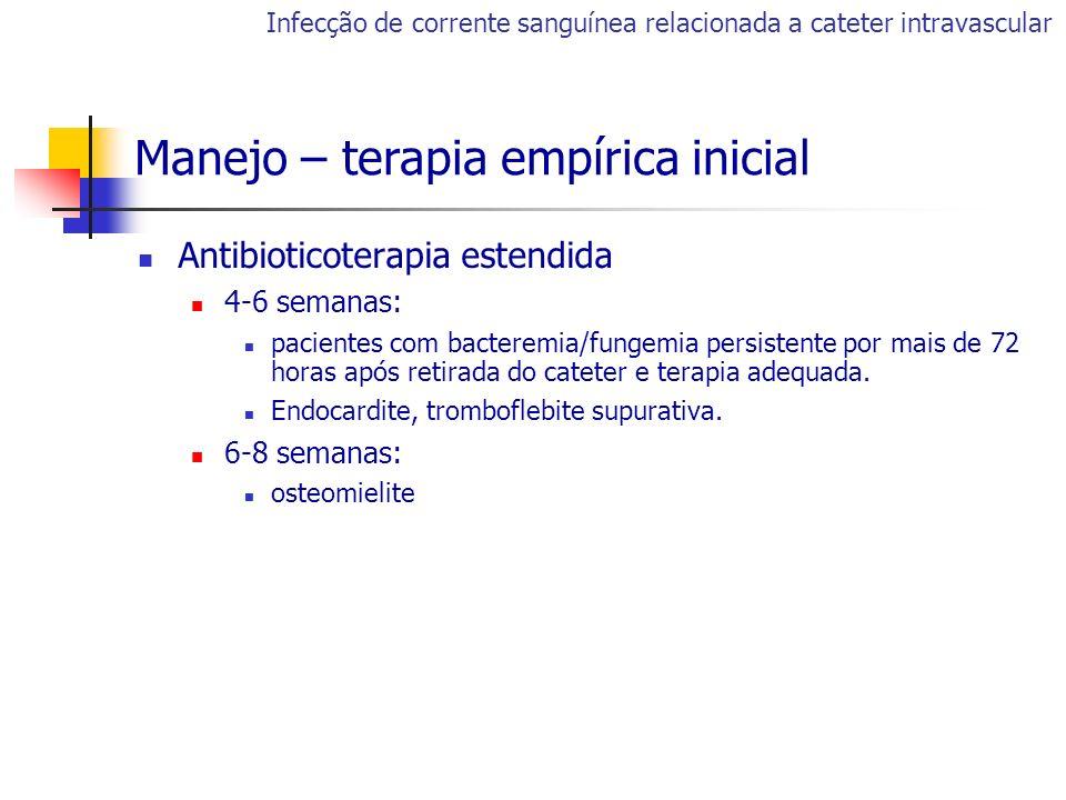 Manejo – terapia empírica inicial