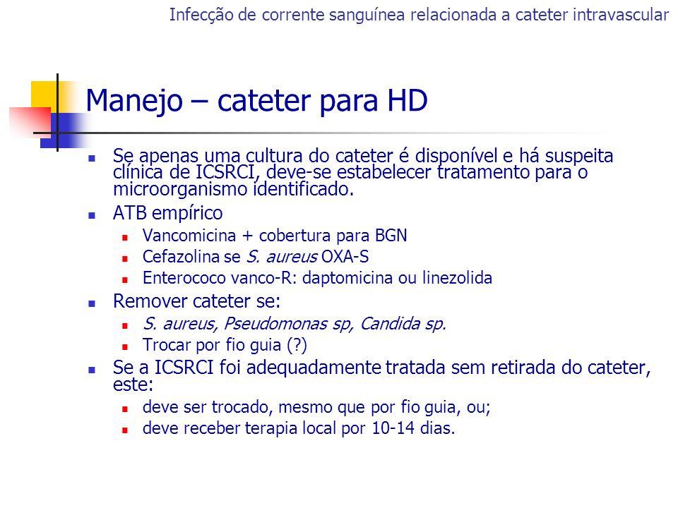 Manejo – cateter para HD