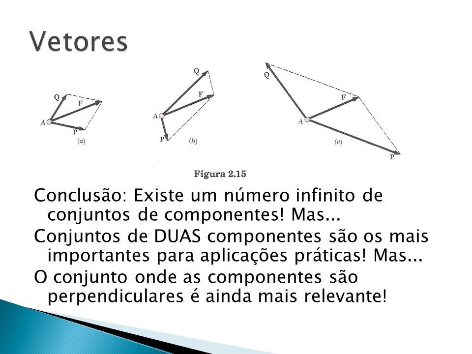 Vetores Conclusão: Existe um número infinito de conjuntos de componentes! Mas...