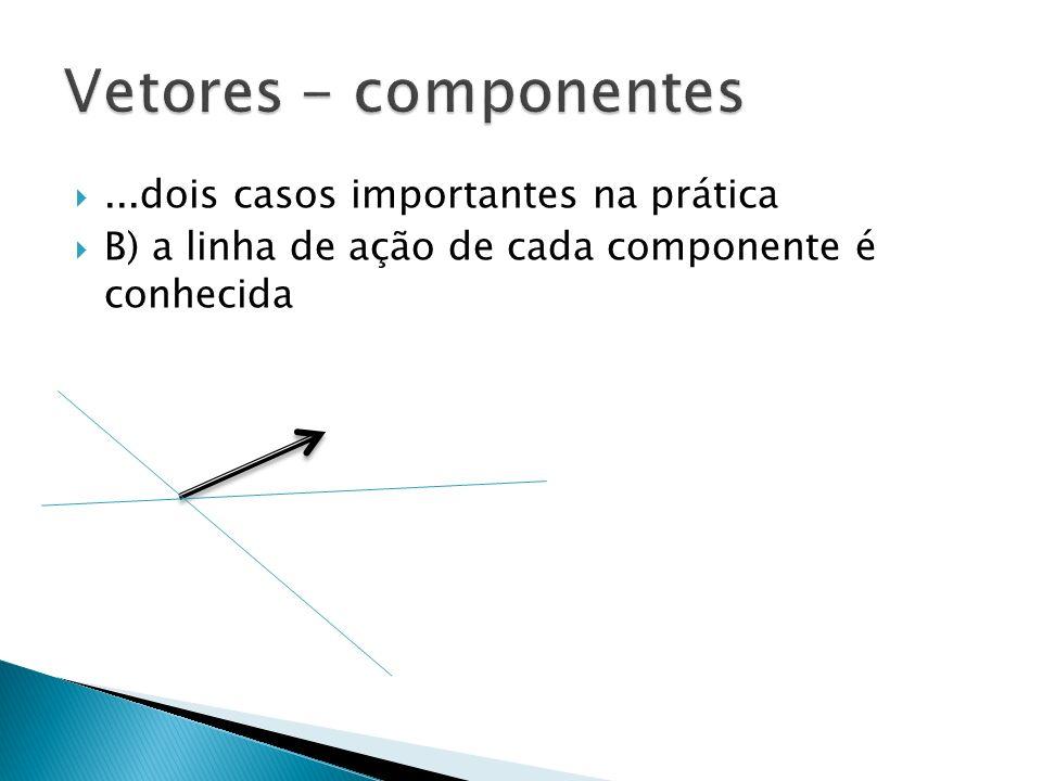 Vetores - componentes ...dois casos importantes na prática