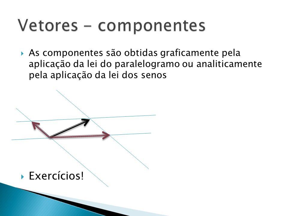 Vetores - componentes Exercícios!