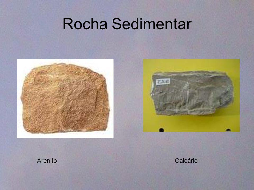 Rocha Sedimentar Arenito Calcário