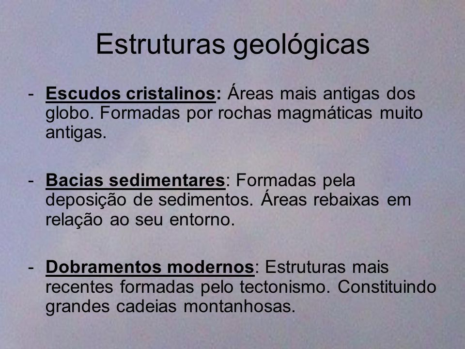 Estruturas geológicas