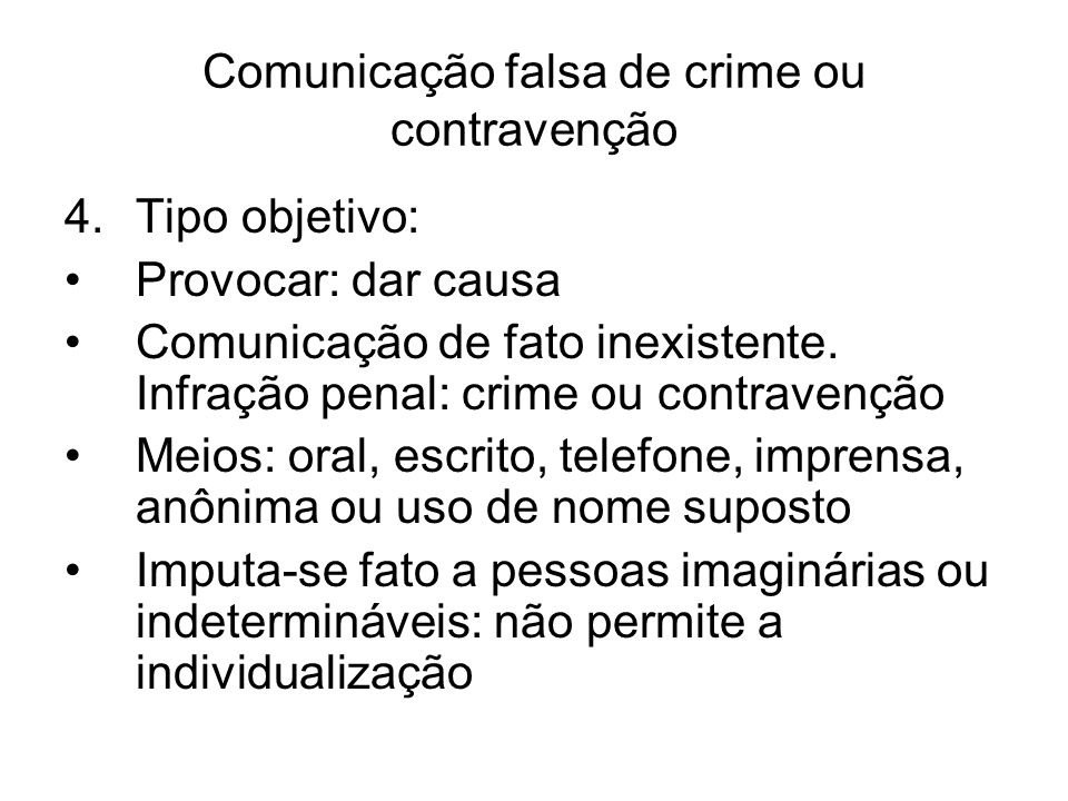 Comunicação falsa de crime ou contravenção