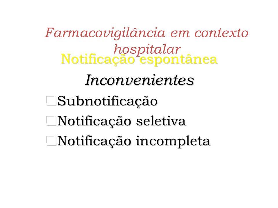 Farmacovigilância em contexto hospitalar