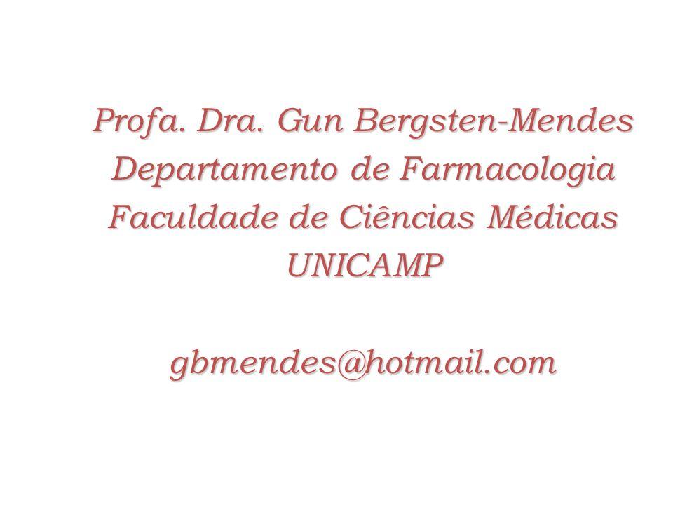 Profa. Dra. Gun Bergsten-Mendes Departamento de Farmacologia
